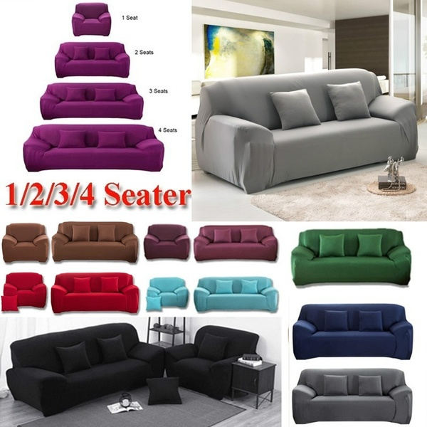 Stretch Chair Cover Sofa Covers 1 2 3 Seater Protector Couch Cover .
