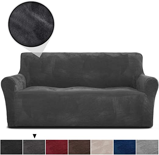 Amazon.com: RHF Velvet-Sofa Slipcover, Stretch Couch Covers for 3 .