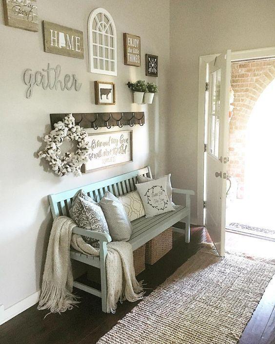 modern country decor, modern farmhouse decor, fall decor, entry .
