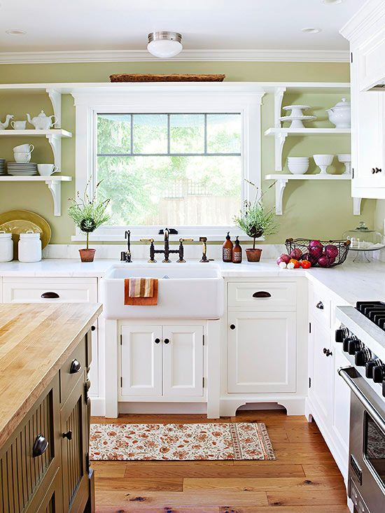 25+ Beautiful Country Kitchens to Copy ASAP | Country kitchen .