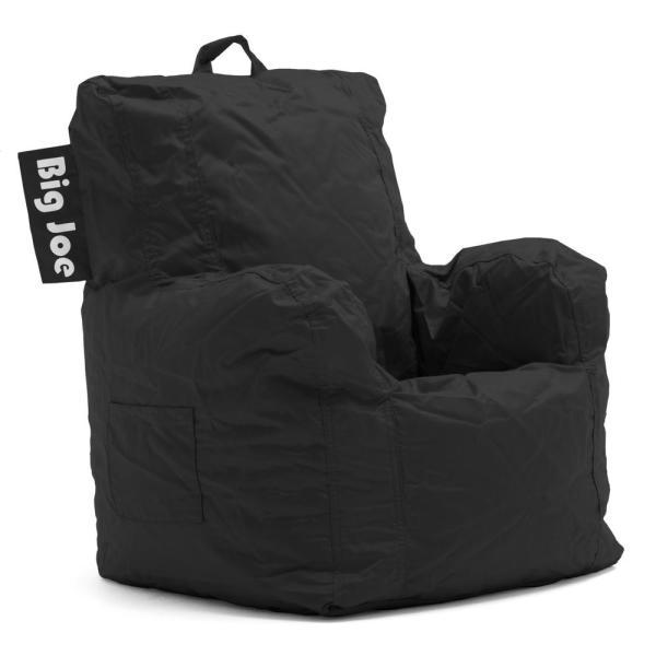 Big Joe Kids Cuddle Chair Stretch Limo Black SmartMax Bean Bag .