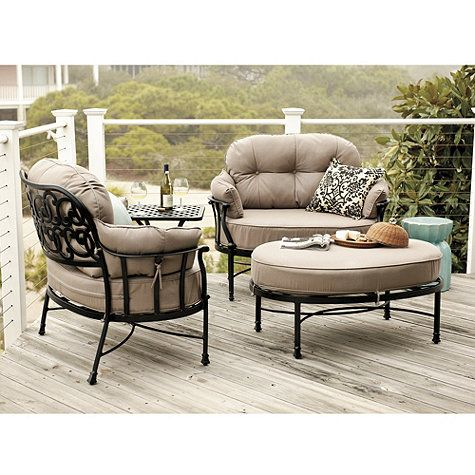 Amalfi Cuddle Chair & Ottoman with Cushions | Best outdoor .