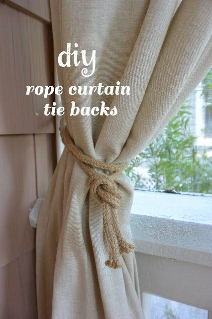 10 Spring Outfit Ideas | Rope curtain tie back, Curtains, Curtain .