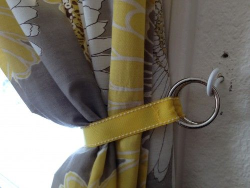 Make It: 5 DIY Curtain Tie Backs | Curtain tie backs diy, Diy .
