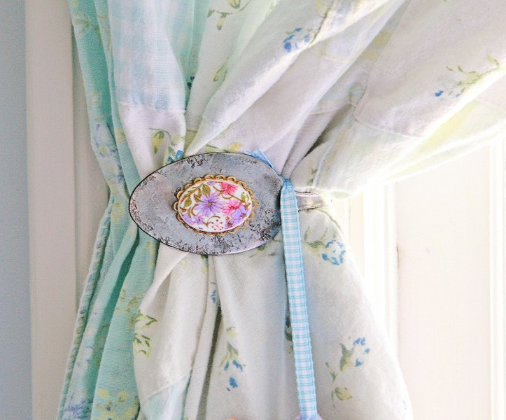DIY Vintage Spoon Curtain Tie Backs - My So Called Crafty Li