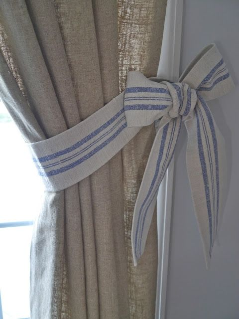 How Hard Can It Be To Tie A Bow | Curtain ties, Curtains, Curtain .