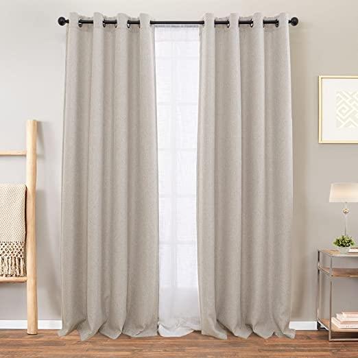 Amazon.com: Vangao Room Darkening Curtains for Living Room Grommet .