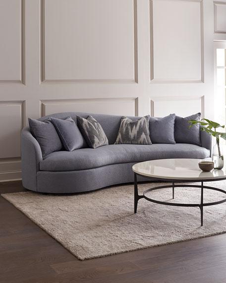 Bernhardt Moderne Curved Sofa, 10