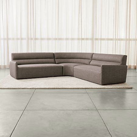 Sydney 3-piece Curved Sectional Sofa + Reviews | Crate and Barr
