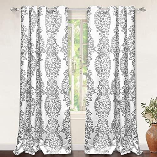 Damask Curtains: Amazon.c