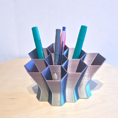 Download free 3D printing templates Hex Desk Tidy ・ Cul
