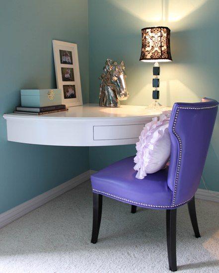corner built-in desk for small rooms | Home, Small room desk .