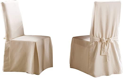 Amazon.com: SureFit Long Dining Chair Slipcover - Cotton Duck - Up .