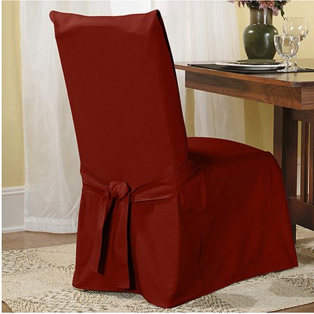 Sure Fit Cotton Duck Dining Chair Slipcover - Walmart.com .