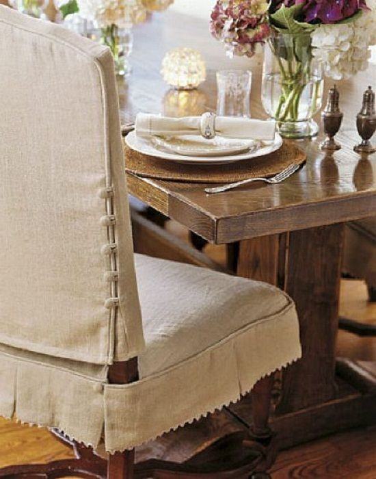 Knowing How to Make Dining Chair Slipcover: Beautiful Dining Room .