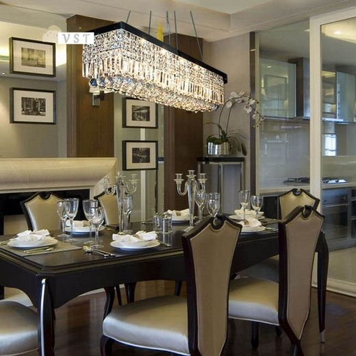Modern rectangle dining room chandeliers | Decolover.net | Modern .