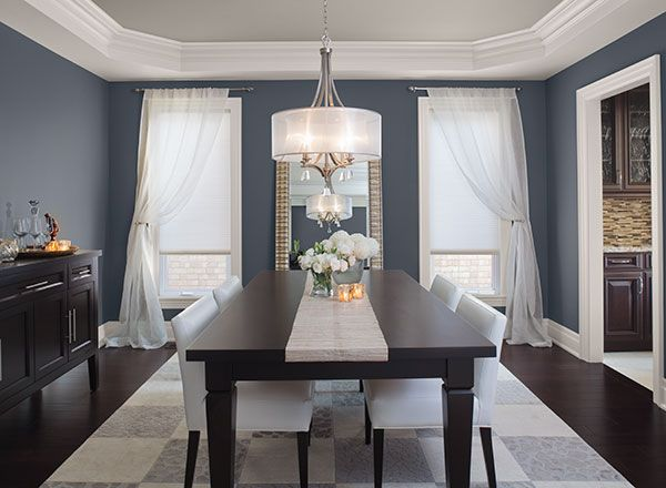 Dining Room Color Ideas & Inspiration | Dining room blue, Blue .