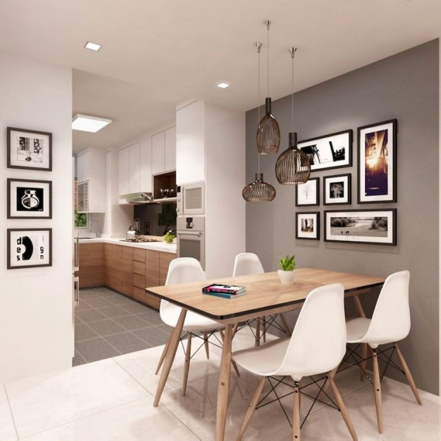 15+ Cozy Small and Clean First Apartment Dining Room Ide