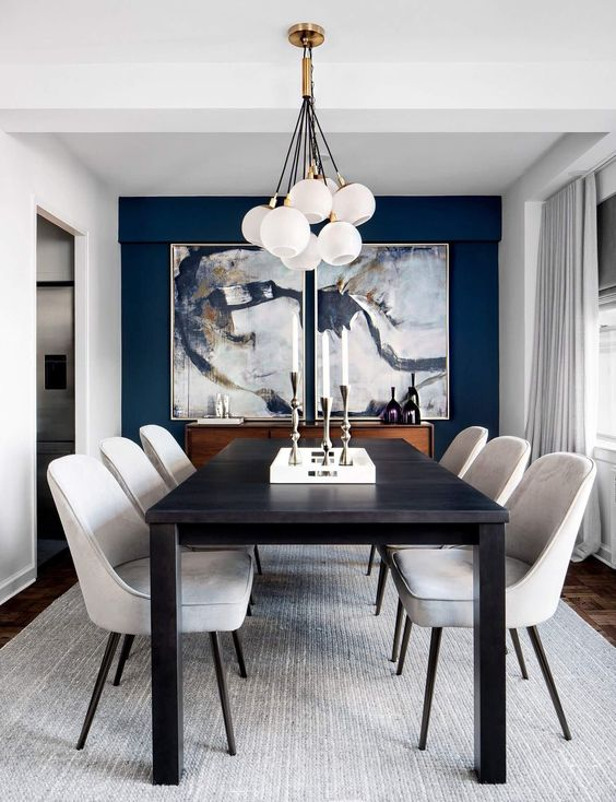 Dazzling Navy Dining Room Ideas for Exotic Room | DecorTren