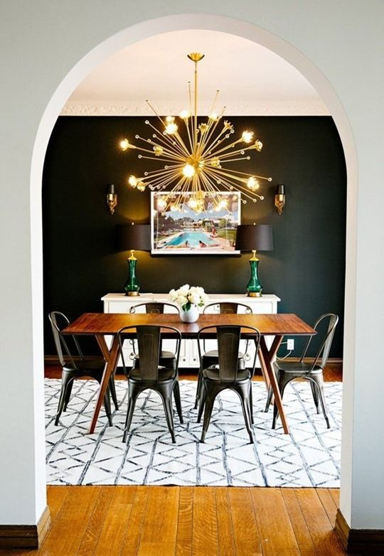 Color Crush- Dramatic Black | Mid century modern dining room, Mid .