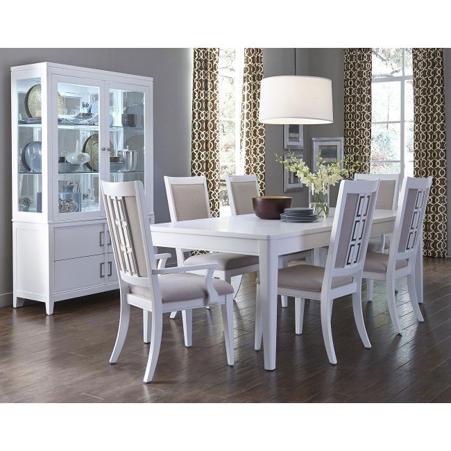 Brighton White Dining Room Set by Samuel Lawrence Furniture .