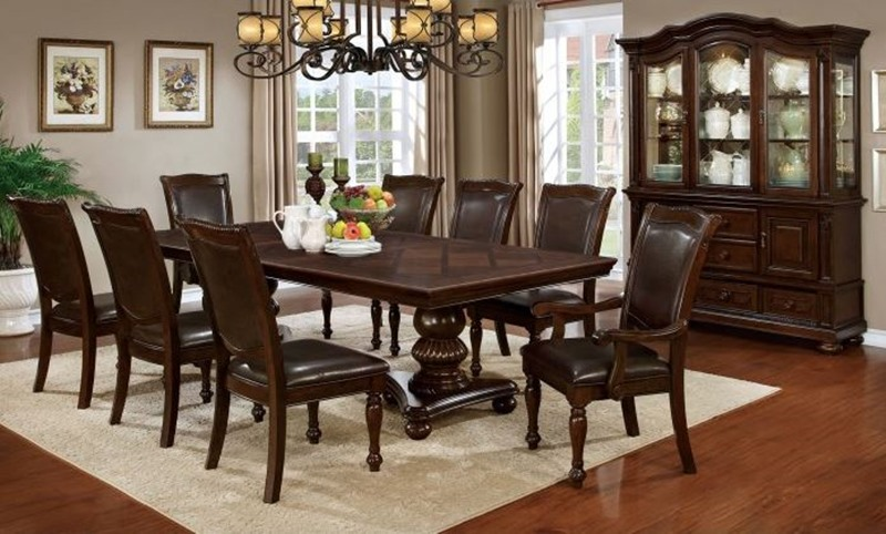 Furniture of America | CM3350T Alpena Formal Dining Room Set .