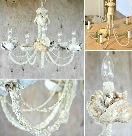 DIY Shell Chandeliers | Shell chandelier, Diy chandelier, Seashell .