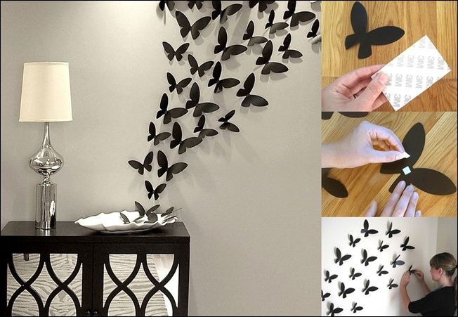 16 Cheap And Easy DIY Wall Beautification With Butterflies | Diy .