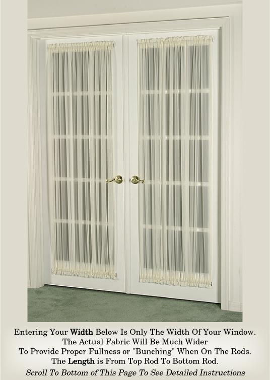 French Door Curtain Sheers (door curtain