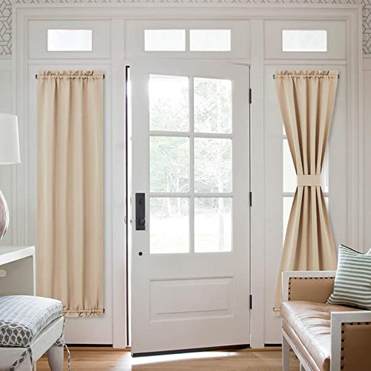 Amazon.com: NICETOWN Patio Glass Door Curtains - Window Treatment .