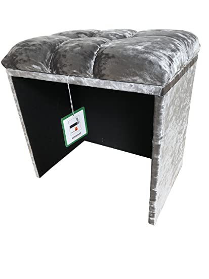 Dressing table/Make up/Piano stool In A Quality Silver Crushed .
