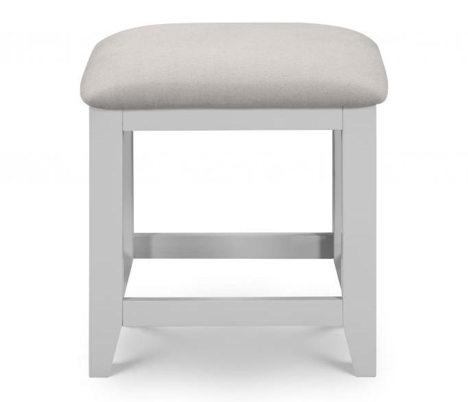 Julian Bowen Richmond Grey and Solid Oak Dressing Table Stool from .