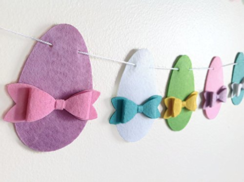 Amazon.com: Easter Egg Garland Decoration, Easter Felt Banner .