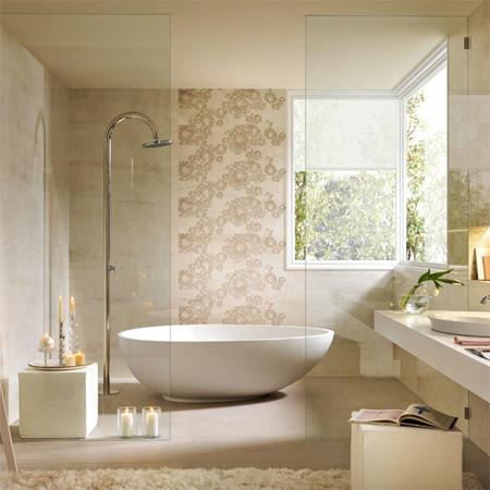 HOME DZINE Bathrooms   Luxury bathroom tile optio
