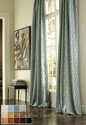 "pasha curtains in 84"", 96"", 108"" inch curtains or 120"" extra long ."
