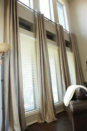 Another possibility for two-story windows. | Window treatments .
