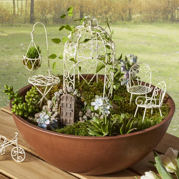 Hi-Line Gift Ltd. Furniture 6 Pieces Fairy Garden Set & Reviews .