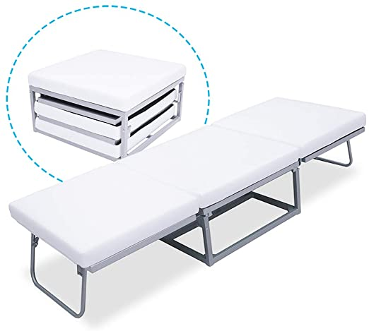 Amazon.com: Triple Ottoman Folding Bed- Guest Bed Foam Mattress .