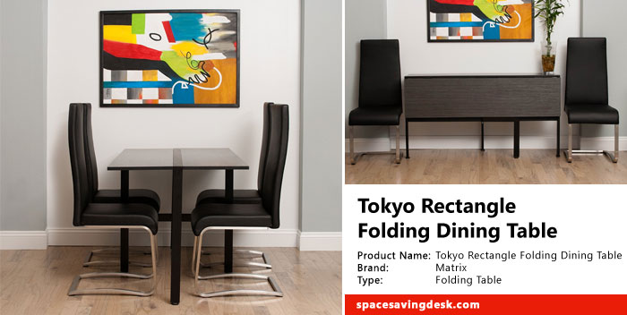 Tokyo Rectangle Folding Dining Table Review | Space Saving De