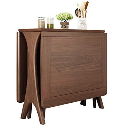 Amazon.com - HU Solid Wood Dining Table ,Nordic Folding Dining .