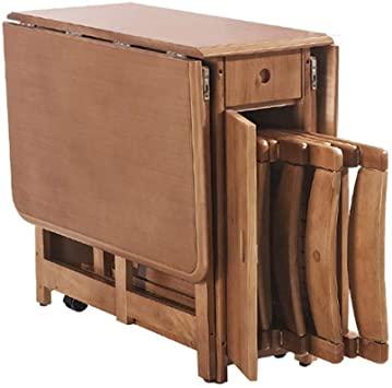Amazon.com: Retractable Folding Dining Table Combination Modern .
