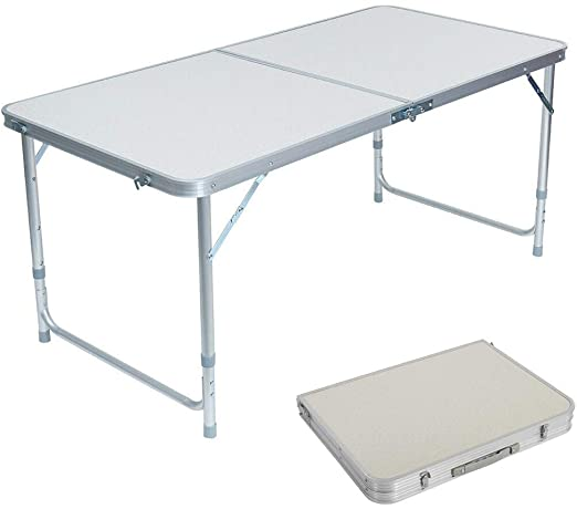 Amazon.com: Lovinland Aluminum Folding Table, Portable Camping .
