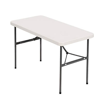Realspace Molded Folding Table 4W Platinum - Office Dep