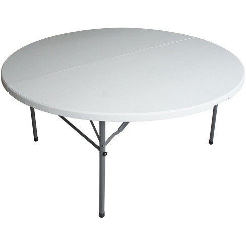 "48"" Round Folding Table Off-White - Plastic Dev Group : Targ"