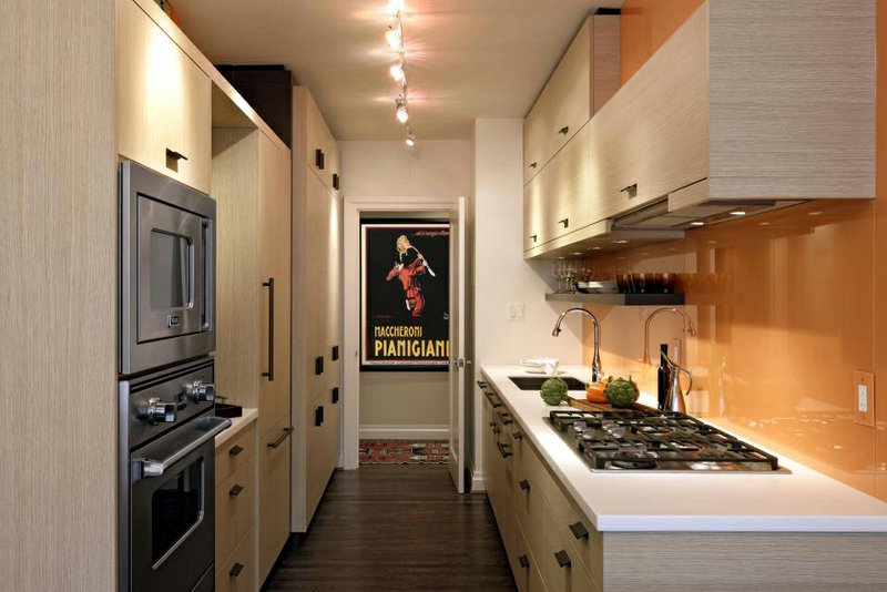 Galley kitchens compete with larger, eat-in spac