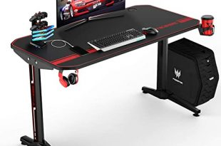 Amazon.com: VIT 47 Inch Ergonomic Gaming Desk, T-Shaped Office PC .