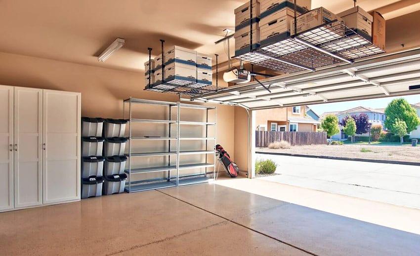 Garage Storage Ideas (Cabinets, Racks & Overhead Designs .