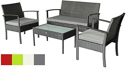 Amazon.com: Oakside Small Patio Furniture Set Outdoor Wicker Porch .