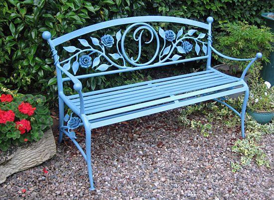 "Pamela's Bench"" Garden Bench | Rustic garden furniture, Garden ."