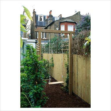 Wooden childrens swing | Wooden garden swing, Wooden garden plante